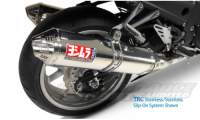 KAWASAKI ZZR 1400 0811 TRC Tri-Oval Slip Ons (pair) (Coned End Cap) RACE (Removable Baffle) Stainless