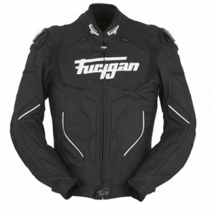 Furygan Raptor Leather Jacket - Black/White