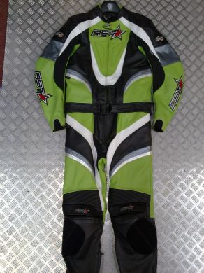 RST 2 PC LEATHER SUIT GREEN