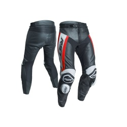 RST Tractech Evo R CE Leather Jeans - Black/Fluo Red