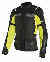 Richa Phantom Jacket Black and Fluo Yellow