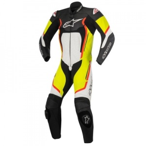 Alpinestars Motegi V2 1 Piece Suit- Black White Yellow & Red