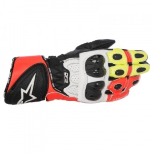 Alpinestars GP Pro R2 Glove - Black White Red Fluo