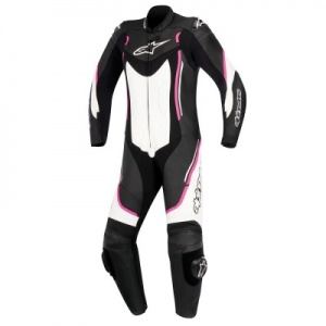 Alpinestars Motegi v2 Stella 1 Piece Suit - Black White & Fuchsia
