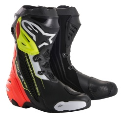 Alpinestars Supertech R Boots Black Red Yellow