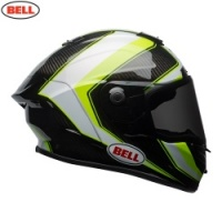 Bell Street 2018 Race Star Helmet - Sector White/Hi-Viz Green