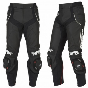 Furygan Raptor Leather Trousers - Black/White