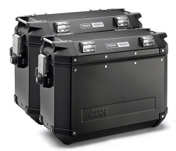 Givi OBKN37BPACK2 Trekker Outback Cases Pair Black