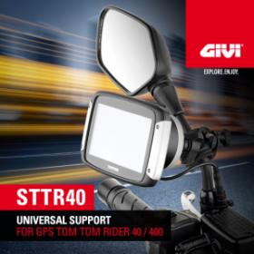 givi givi sttr40 universal gps holder for tom tom rider 40 400 module moto. Black Bedroom Furniture Sets. Home Design Ideas