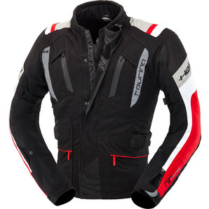 Held 4-Touring Mens Textile Jacket Black Red