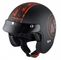 Held Black Bob Helmet 7540 - Black/Orange