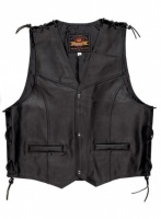 Held Patch Mens Leather Waist Coat