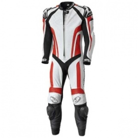 Held Fast Pace 1 Piece Leather Suit -  White Red