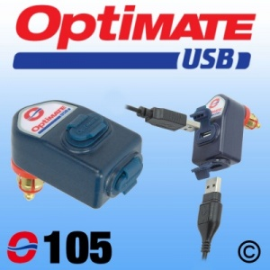 Optimate Dual output weatherproof USB charger