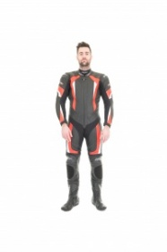 RST R-16 One Piece Leather Suit - Blk/Red