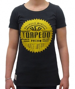 Red Torpedo Race Sprocket T Girls Black