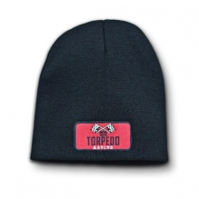 Red Torpedo Retro Racing Beanie Graphite