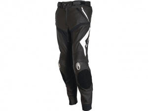Richa Mugello Leather Pants Black/White