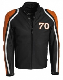 Segura Rocco Leather Jacket - Black/Orange