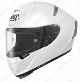 Shoei X-Spirit 3 Plain White - Free Dark Race Visor