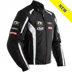 RST IOM TT Team CE Textile Jacket - Black/White