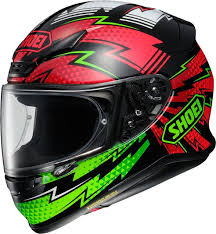 61742ec0 Shoei NXR Variable - TC4 - Green/Red - FREE Dark Visor - Module Moto