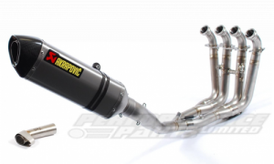 Akrapovic BMW S1000RR 2010-14 Full Stainless Race System - Titanium E-Marked Silencer With Removable Baffle