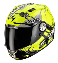 Scorpion EXO-1000 Type E-11 Splash Yellow With Free Black Race Visor !