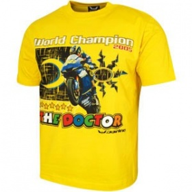 Rossi VR Camiseta World Champion 05 T-Shirt - Yellow