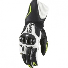 Furygan Fit-R Gloves - Blk/Wht/Fluorescent