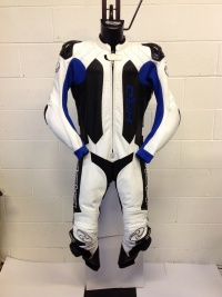 Held Slade Blue White 1 Piece Leather Suit