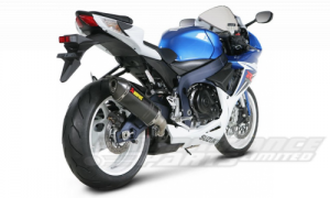 Akrapovic Carbon Slip-On - Hexagonal Silencer GSXR 600 2011