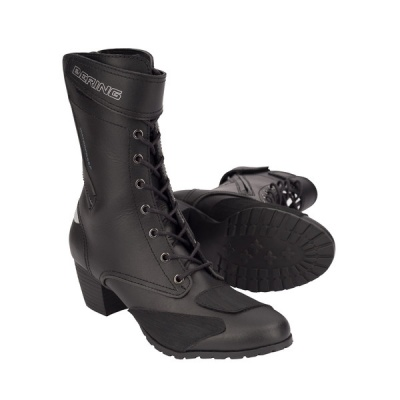 Bering Lady Morgane Black CE Approved WP Motorcycle Boots ...