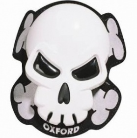 Oxford Skull Knee Sliders - White