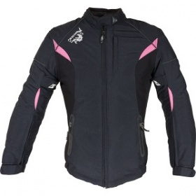 Richa Kayla Ladies Textile Jacket Blk&Pink