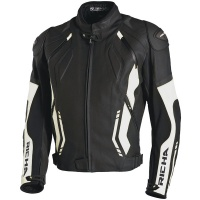 Richa Mugello Leather Jacket Black/White