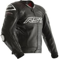 RST Tractech Evo R CE Leather Jacket - Black