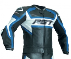 RST Tractech Evo R CE Leather Jacket - Black/Blue