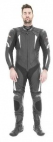 RST R-16 One Piece Leather Suit - Blk/White