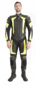RST R-16 One Piece Leather Suit - Blk/Fluo