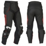 Furygan Raptor Leather Trousers - Black/Red