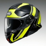 Shoei Neotec 2 Flip Helmet - Excursion TC-3 - Black/Yellow + Optional SENA SRL-01 £189