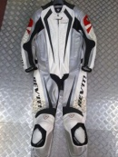 REVIT 1 PIECE SUIT WHITE  RED