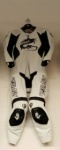Arlen Ness 8307 White/Black Leather Suit