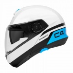 Schuberth C4 Pulse Helmet - White/Blue