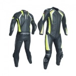 RST R-18 CE One Piece Leather Suit - Fluo Yellow