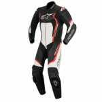 Alpinestars Motegi v2 1 Piece Suit- Black White & Red Fluo