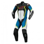 Alpinestars Motegi V2 1 Piece Suit - Black White Blue & Yellow Fluo