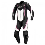 Alpinestars Motegi v2 Stella Ladies 1 Piece Suit - Black White & Fuchsia
