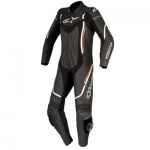 Alpinestars Motegi V2 Stella Ladies 1 Piece Suit Black White Red Fluo